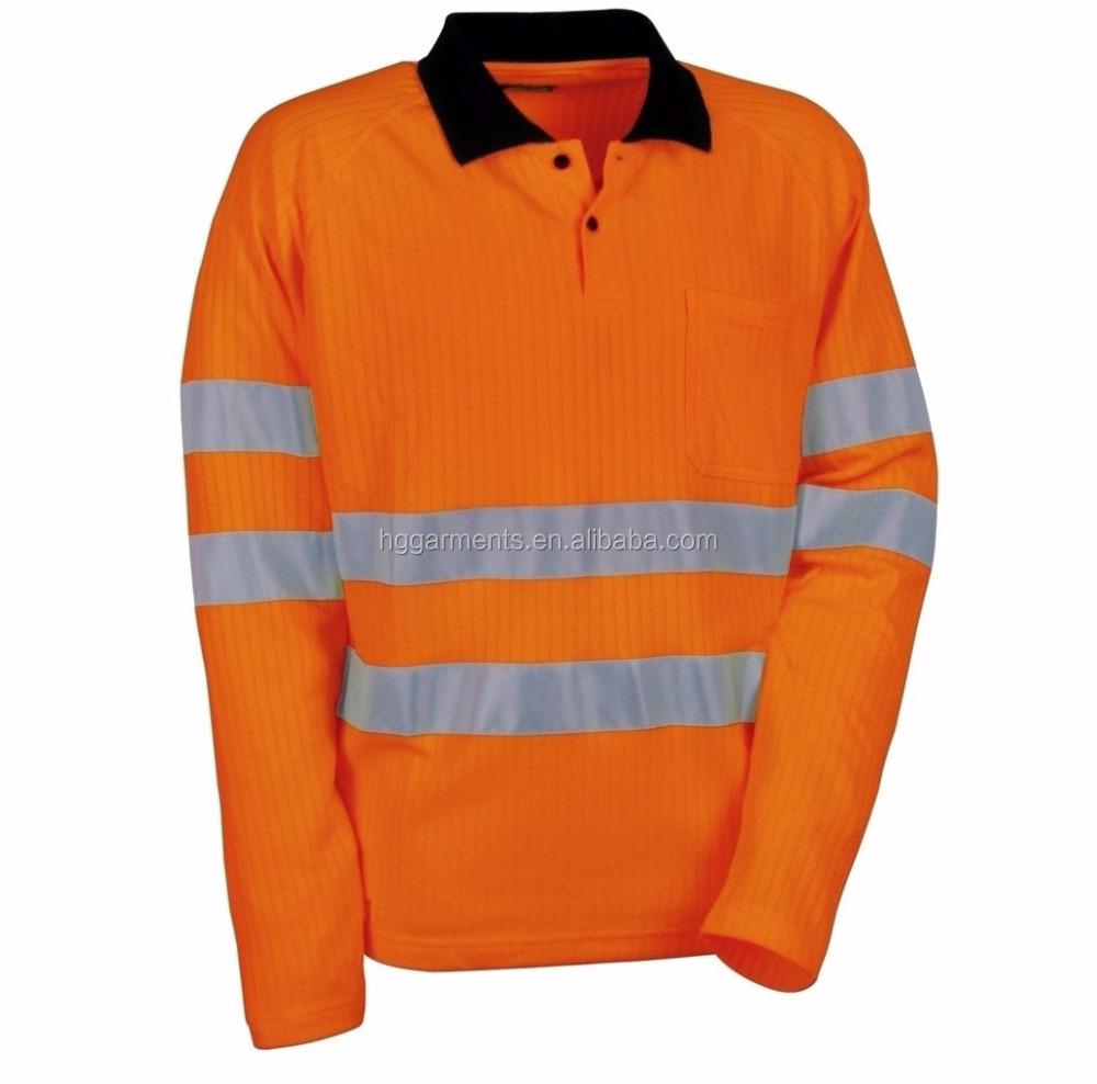 Reflective workwear Safety Polo T-shirt