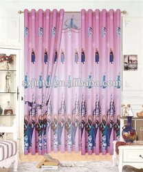 hot sale cartoon design plain curtain for children