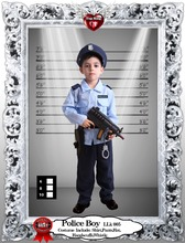 LOLA Factory Sales Kids Party Police Cosplay Haloween Costumes for Child