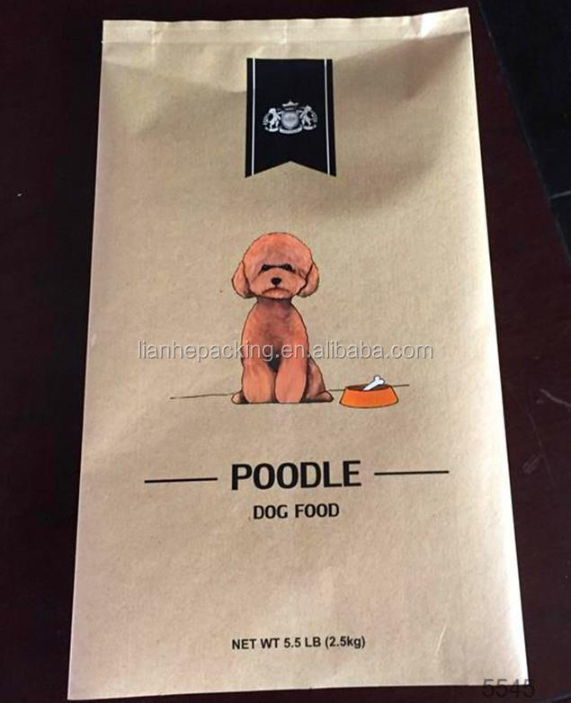 Standing Up Plastic Pet Food Packaging Bags With Pocket Zip