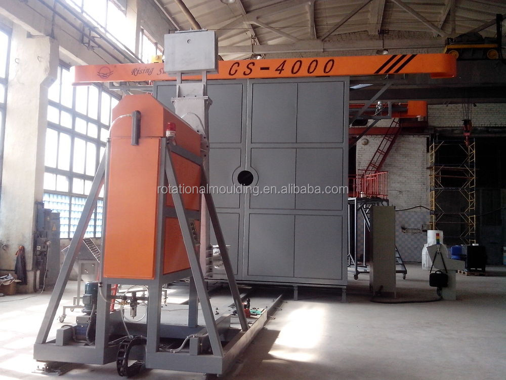 Two arms Shuttle type rotational molding machine