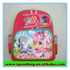 pink bag with colour pen for girl kids school backpack