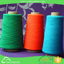 Big factory since 2001 carded yarn knitting recycled cotton polyester twisted yarn