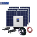 BESTSUN 5kw solar power generator home energy storage with solar panel ,controller , inverter,battery and cable