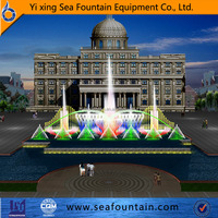 large building outdoor fountain