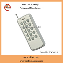 rf 315/433mhz high quality electric wireless remote control(ZY36-15)