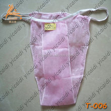 thai spa products sexy disposable free size girls underwear/panties in pink