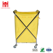 High-Capacity 620*625*985mm X Type Laundry Trolley For Hotel Housekeeping