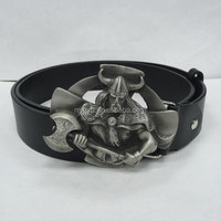 Wholesale customized fashion safety iron military belt buckle