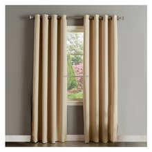 Three Pass Microfiber Noise Reducing Thermal Insulated Solid Ring Top Blackout Window Curtains / Drapes