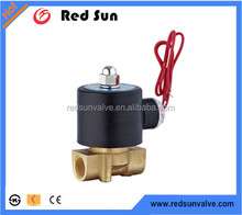"Redsun high quality HR6140 factory manufacture forged 1/2""electricity system brass hotel saving wate electric 12v solenoid valve"