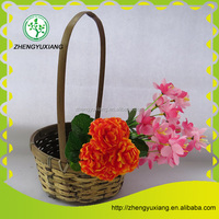 Bamboo handicraft long handle basket