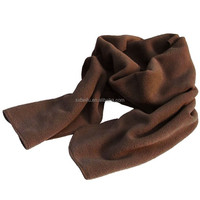 promotional gift scarf anti pilling brushed overlock polar fleece scarf