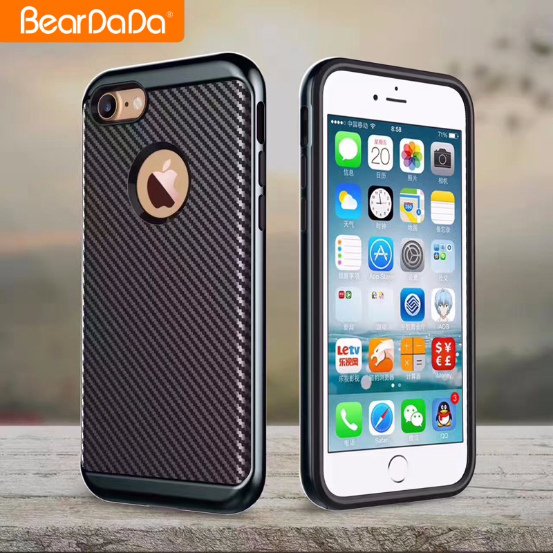 Newest Arrival carbon fiber phone cover for iphone 7,for iphone 7 carbon fiber case