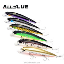 WeiHai High Quality Fishing Lure 14.2g 110mm 3D Eyes With 6# Treble Hooks For Bass Pike Floating Minnow Lure Fishing