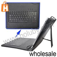 Universal 9.7 Inch Tablet PC Leather Keyboard Case with USB Cable
