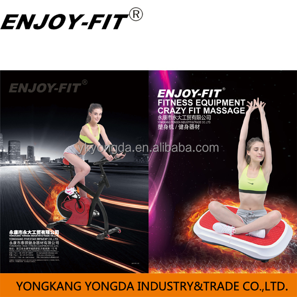 Hot sale crazy fit massage with strap (CE&ROHS) YD1002,VIBRATION PLATE