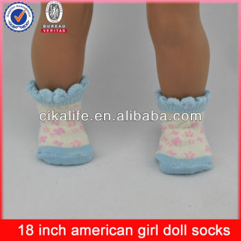 18 Inch American Girl doll socks