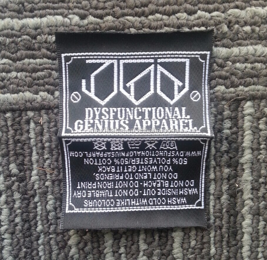 2017 high quality customized cheap high density damask woven labels clothing labels