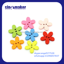 Colorful pur color Heart Shaped Wood Buttons For Decoration DIY Craft