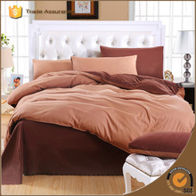 Satin Cotton Bed Sheets Set And Duvet Cover Solid Color Plain Dyed