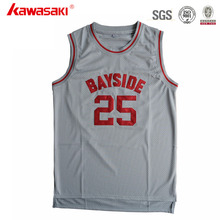 Mesh Fabric Gray Color Design Dry Fit European Basketball Jersey