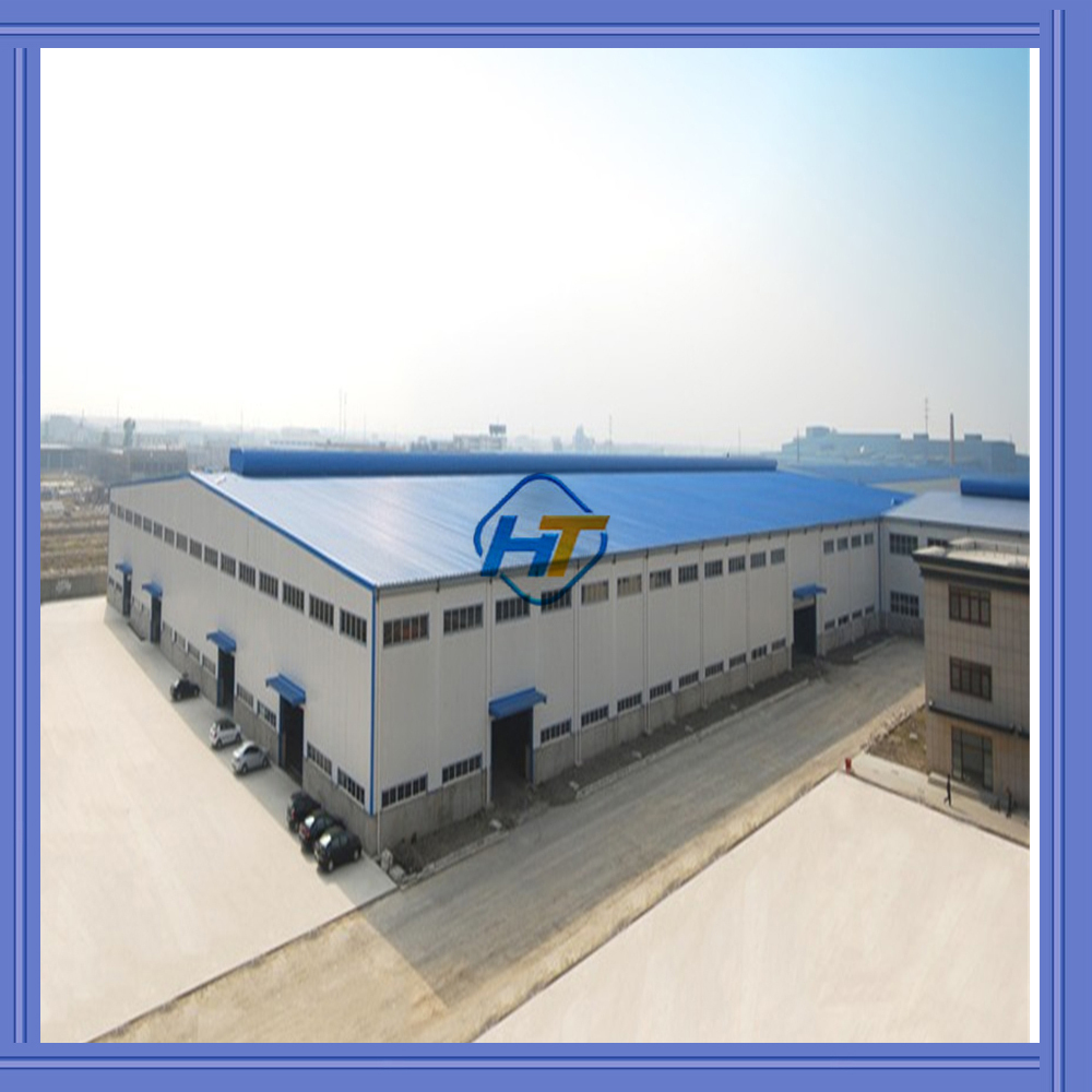 eps/rockwool sandwich wall light steel frame /prefabricated steel warehouse/prefab steel structure