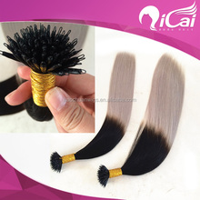 Two Tone Color Silky Straight Nano Hair,High Quality Nano Hair Extensions