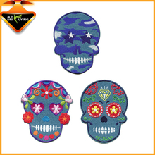 Custom skull embroidery patch,embroidery badges,embroidered patch