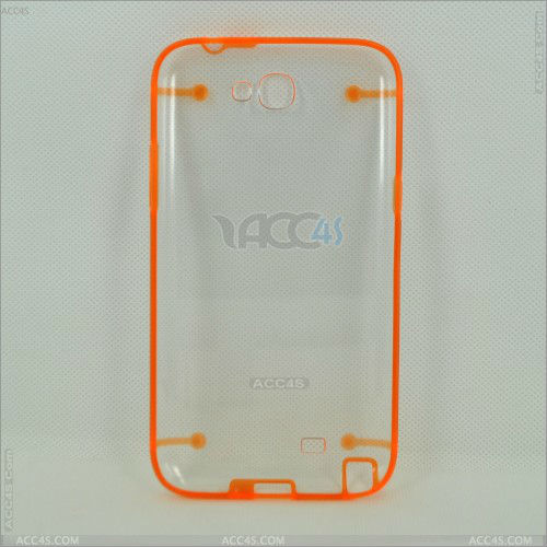 alibaba hot sell Transparent PC+Silicone Protective Case Cover with Luminous for Samsung Note 2 N7100 P-SAMN7100HCSO014