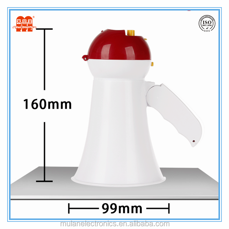 Mini toy megaphone with recording, talk, siren