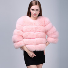 New design soft brown furry coats for women High Quality Short Style Fox Fur Coat faux Fox Fur Jacket