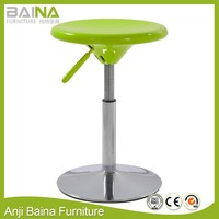 Cheap price low height abs round plastic stool