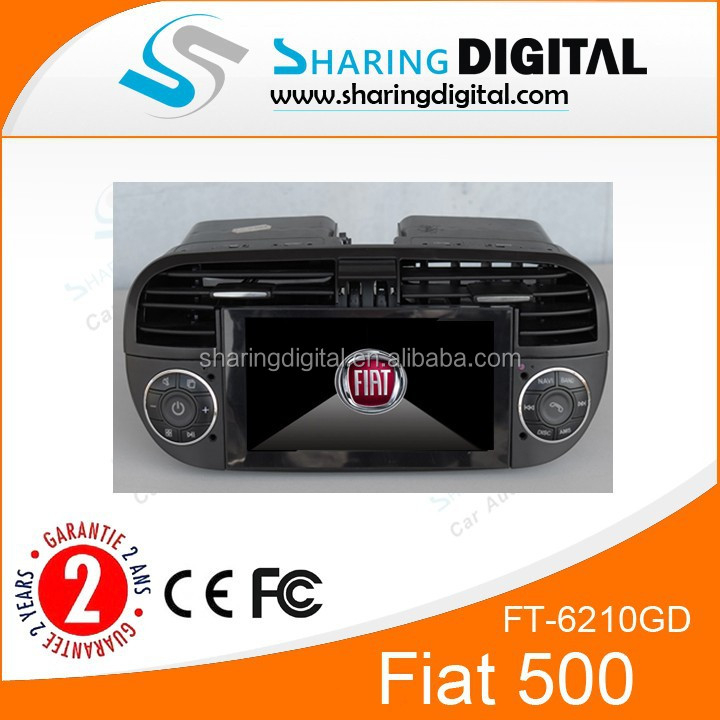 Fiat 500 DVD Player with GPS/DVD/MP3/MP4 FT-6210GD
