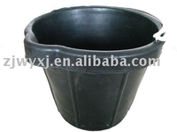 recycled rubber bucket,black rubber cement pails with handle,REACH