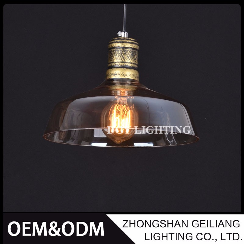 for dinning room shop resturant industrial retro vintage glass hanging pendant lamp with edison bulb