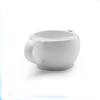 White Double Wall Ceramic Shaving Scuttle Shaving Bowl