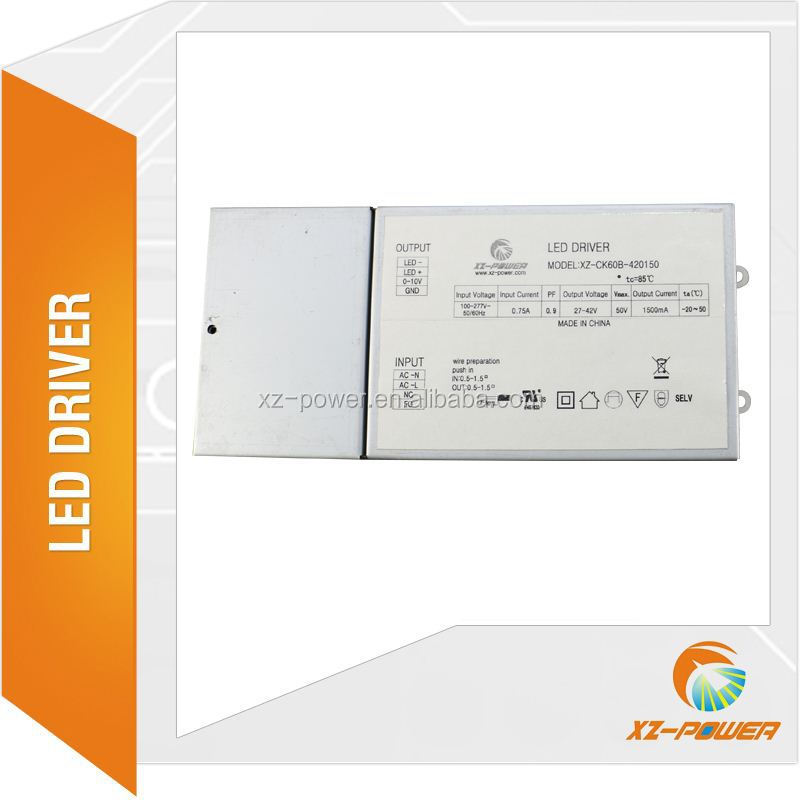 xz-power Hot selling 60w fire rated COB led downlight driver 42v