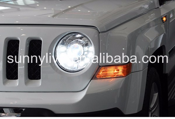jeep patriot 2011 2014 led head light chrome housing view for jeep. Cars Review. Best American Auto & Cars Review