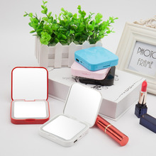 2017 Portable vanity mirror with light Compact Magnifying makeup mirror power bank led pocket mirror