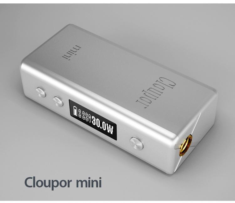 2015 electronic cigarette battery cloupor mini ecig battery mod 30W Mechanical VV VW mod ECigarette 30W box mod cloupor mini kit