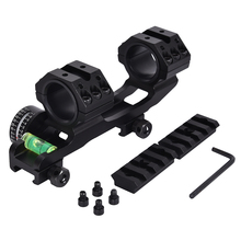 Tactical Scope Mount Riflescope Accessories Dual Rings Mount With Bubble Level and Angle-indicator Picatinny Rail