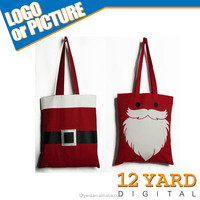 Hot wholesale Christmas gift tote cotton fabric shopping handle bag