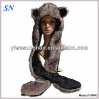 Design your own handmade knitted custom winter Animal scraf hats gloves set