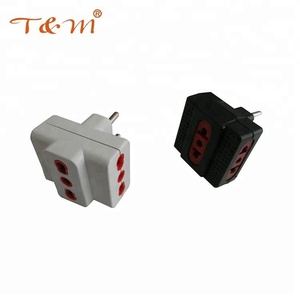 Factory direct ABS material 250V voltage Italy plug adapter/transfer plug