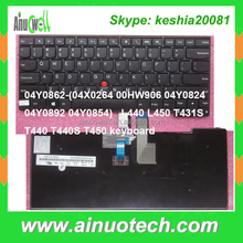 Laptop Parts for Lenovo laptop keyboard L440 L450 T431S T440 T440S T450 X240 G570 G580 T410 T420 X230 notebook internal keyboard