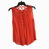 Women Silk Tank Tops Summer CrissCross Camisole Tops Hollow Out Sleeveless T Shirt With Front Button Opening