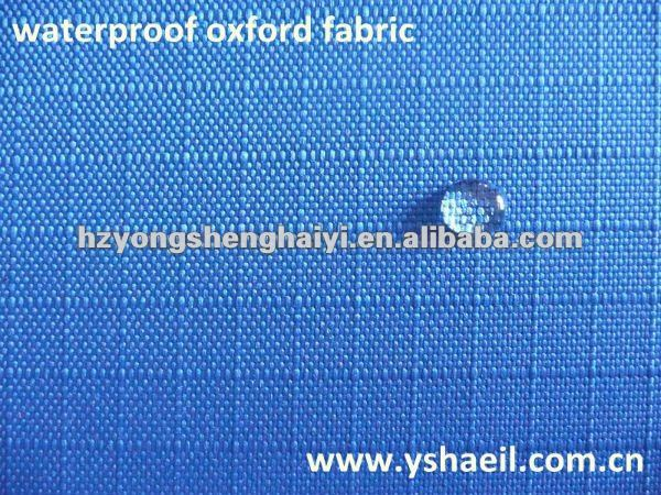 100% polyester pu coated water repellent ribstop fabric