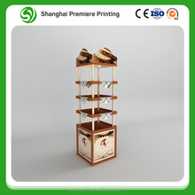 corrugated material bakery display shelves