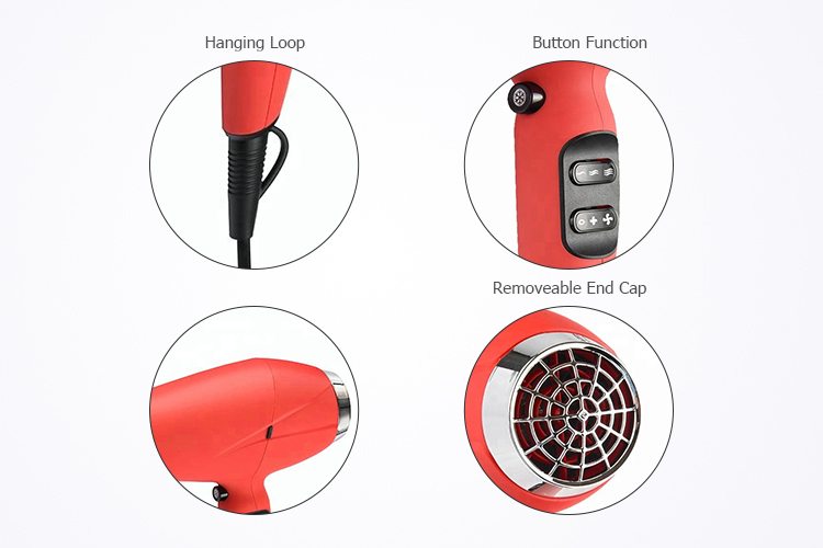 Latest style concentrator AC motor dryer hair,rubber coating hair dryer 2200w